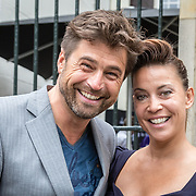 NLD/Amsterdam/20150602 - Talkies Terras award 2016, Otto van der Toorn en partner Sandy Kandau