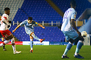 Liam Walsh of Coventry City(20) shoots at goal during the EFL Sky Bet League 1 match between Coventry City and Rotherham United at the Trillion Trophy Stadium, Birmingham, England on 25 February 2020.