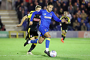 AFC Wimbledon attacker Harry Forrester (11) dribbling during the EFL Sky Bet League 1 match between AFC Wimbledon and Rotherham United at the Cherry Red Records Stadium, Kingston, England on 17 October 2017. Photo by Matthew Redman.