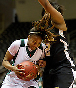 Jasmyne Sanders (31) of Mississippi Valley State University drives to the basket against Arkansas-Pine Bluff during the SWAC semi-finals at the Curtis Culwell Center in Garland on Friday, March 15, 2013. (Cooper Neill/The Dallas Morning News)