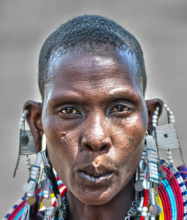 The Maasai woman - face in closeup