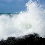 Waves crashing at Luskentyre, Isle of Harris, Scotland<br />