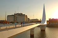 Puente de la Mujer, Bridge, Puerto Madero, Buenos Aires, Argentina