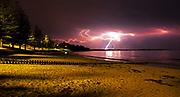 Cosy Corner Lightening Storm during summer on the Surfcoast<br /> Steve Ryan Photography