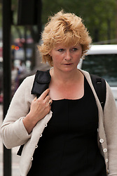 © under license to London News Pictures. 25/06/12. London, UK. Former Lloyds Banking Group counter fraud boss, Jessica Harper arrives at Westminster Magistrates Court for a committal hearing. She is accused of £2.5 fraud...ALEX CHRISTOFIDES/LNP
