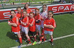 Carnmore NS Co Galway finalists in the SPAR FAI Primary Schools 5's Connacht finals, pictured at Solar Park Mayo. As winners they will progress to the SPAR FAI Primary School 5's National Finals in the Aviva Stadium on May 31st.<br /> Pic Conor McKeown