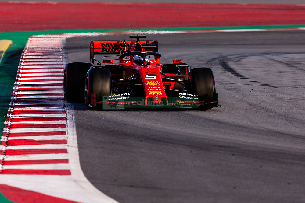 February 26, 2019 - Barcelona, Barcelona, Spain - Sebastian Vettel from Germany with 05 Scuderia Ferrari Mission Winnow SF90 in action during the Formula 1 2019 Pre-Season Tests at Circuit de Barcelona - Catalunya in Montmelo, Spain on February 26. (Credit Image: © AFP7 via ZUMA Wire)