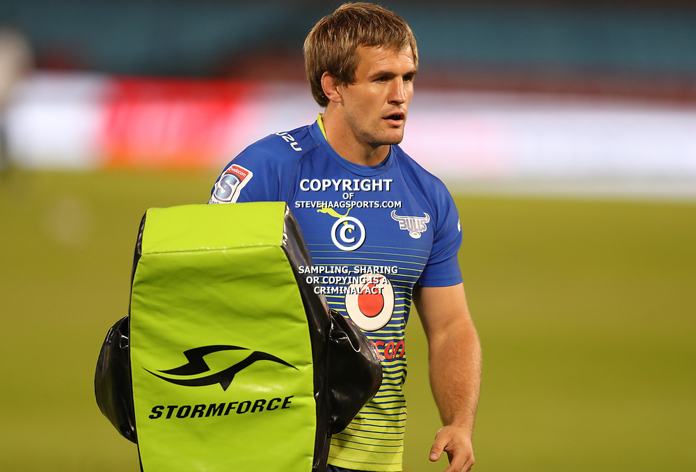 Marnus Schoeman of the Vodacom Bulls during the Super Rugby match between the Vodacom Bulls and the Jaguares at Loftus Versfeld, Pretoria,South Africa April 15th 2017 Photo by (Steve Haag)