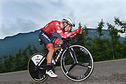 Gianluca Brambilla (ITA - Trek - Segafredo) during the 101th Tour of Italy, Giro d'Italia 2018, stage 16, Trento - Rovereto 34.5 km on May 22, 2018 in Italy - Photo Dario Belingheri / BettiniPhoto / ProSportsImages / DPPI