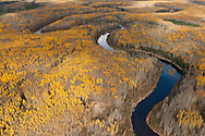 MaKay River. Alberta Tar sands, Alberta Oil Sands Mackay River and boreal Forest beside Alberta Tar, Oil Sands.