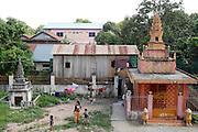 De Preah Chan Rangsei Pagoda in Phnom Penh, Cambodja.