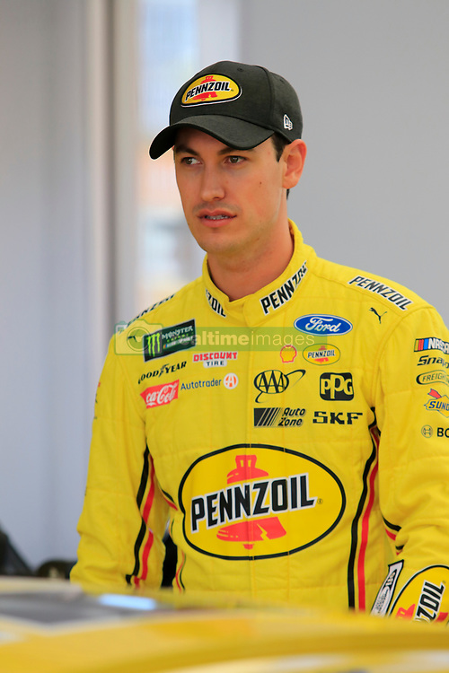 September 14, 2018 - Las Vegas, NV, U.S. - LAS VEGAS, NV - SEPTEMBER 14: Joey Logano (22) Team Penske Pennzoil Ford Fusion during practice for the South Point 400 Monster Energy NASCAR Cup Series Playoff Race on September 14, 2018 at Las Vegas Motor Speedway in Las Vegas, NV. (Photo by David Griffin/Icon Sportswire) (Credit Image: © David Griffin/Icon SMI via ZUMA Press)