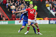 Bristol City striker, Aaron Wilbraham (18) on the ball during the Sky Bet Championship match between Bristol City and Cardiff City at Ashton Gate, Bristol, England on 5 March 2016. Photo by Shane Healey.