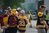 June 18, 2011, Boston, MA - A group of fans waits for the parade to begin. Photo by Lathan Goumas.