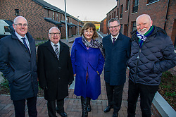 Pictured: John Hamilton, Winchburgh Development Ltd, David Dodds, West Lothian Council; Fiona Hyslop; Derek Mackay and Sir Tom Hunter<br /> Finance Secretary Derek Mackay headed to Winchburgh today to meet developers of new 3,450-home village. As well as the new homes, schools and other associated infrastructure will be built at Winchburgh. Derek Mackay met Sir Tom Hunter and Local MSP, Fiona Hyslop, the developers and West Lothian Council officials.<br /> Ger Harley | EEm 17 January 2019