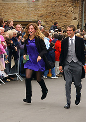 BEN & KATE GOLDSMITH at the wedding of Laura Parker Bowles to Harry Lopes held at Lacock, Wiltshire on 6th May 2006.<br />