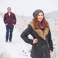 Sharon Maas and Steve Richards pose for engagement portraits on Saturday, Dec. 12, 2015, in Fort Collins, Colorado. Photo by Andy Colwell