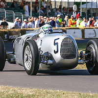 #5 Auto Union Type C Streamliner, with Allan McNish at the wheel, here at the Goodwood Festival of Speed 2006