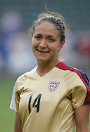 25 August 2007: Stephanie Lopez. The United States Women's National Team defeated the Women's National Team of Finland 4-0 at the Home Depot Center in Carson, California in an International Friendly soccer match.