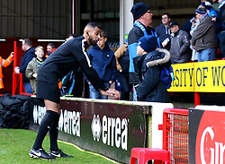 The linesman chats to a young Bristol Rovers fan at Walsall  - Mandatory by-line: Robbie Stephenson/JMP - 26/12/2017 - FOOTBALL - Banks's Stadium - Walsall, England - Walsall v Bristol Rovers - Sky Bet League One