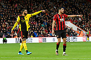 Etienne Capoue (29) of Watford and Dominic Solanke (9) of AFC Bournemouth point during the Premier League match between Bournemouth and Watford at the Vitality Stadium, Bournemouth, England on 12 January 2020.