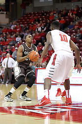 29 December 2014:  Godson Eneogwe, John Jones during an NCAA non-conference interdivisional exhibition game between the Quincy University Hawks and the Illinois State University Redbirds at Redbird Arena in Normal Illinois.