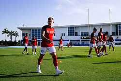 Sammie Szmodics of Bristol City looks on during the 2nd leg of the match after the previous day's game was abandoned at half time due to extreme weather - Rogan/JMP - 14/07/2019 - IMG Academy, Bradenton - Florida, USA - Bristol City v Derby County - Pre-Season Tour Day 3.