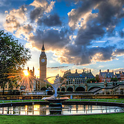 There are many, many photographs of the Houses of Parliament, mostly taken from Westminster Bridge. I wanted to find a new angle and this was presented courtesy of visiting a friend in Guy's Hospital. This shot is taken from the garden there.