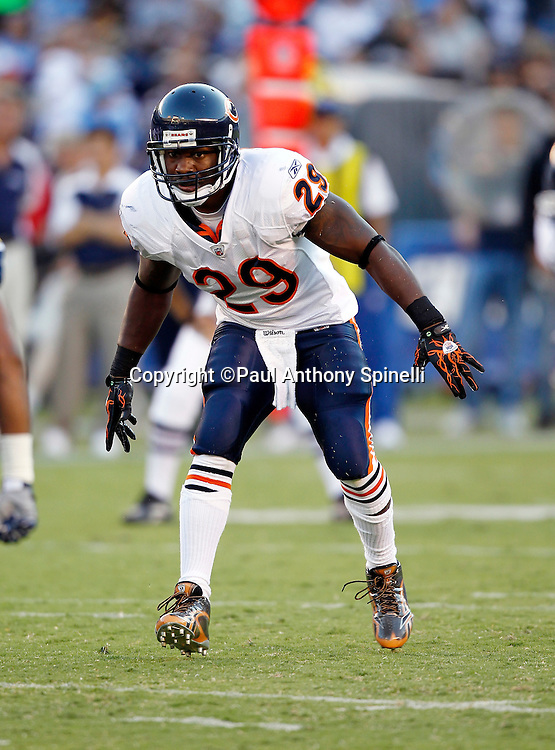 Chicago Bears running back Chester Taylor (29) makes a move during a NFL week 1 preseason football game against the San Diego Chargers, Saturday, August 14, 2010 in San Diego, California. The Chargers won the game 25-10. (©Paul Anthony Spinelli)