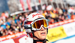 29.01.2017, Casino Arena, Seefeld, AUT, FIS Weltcup Nordische Kombination, Seefeld Triple, Skisprung, im Bild David Pommer (AUT) // David Pommer of Austria reacts after his Competition Jump of Skijumping of the FIS Nordic Combined World Cup Seefeld Triple at the Casino Arena in Seefeld, Austria on 2017/01/29. EXPA Pictures © 2017, PhotoCredit: EXPA/ JFK