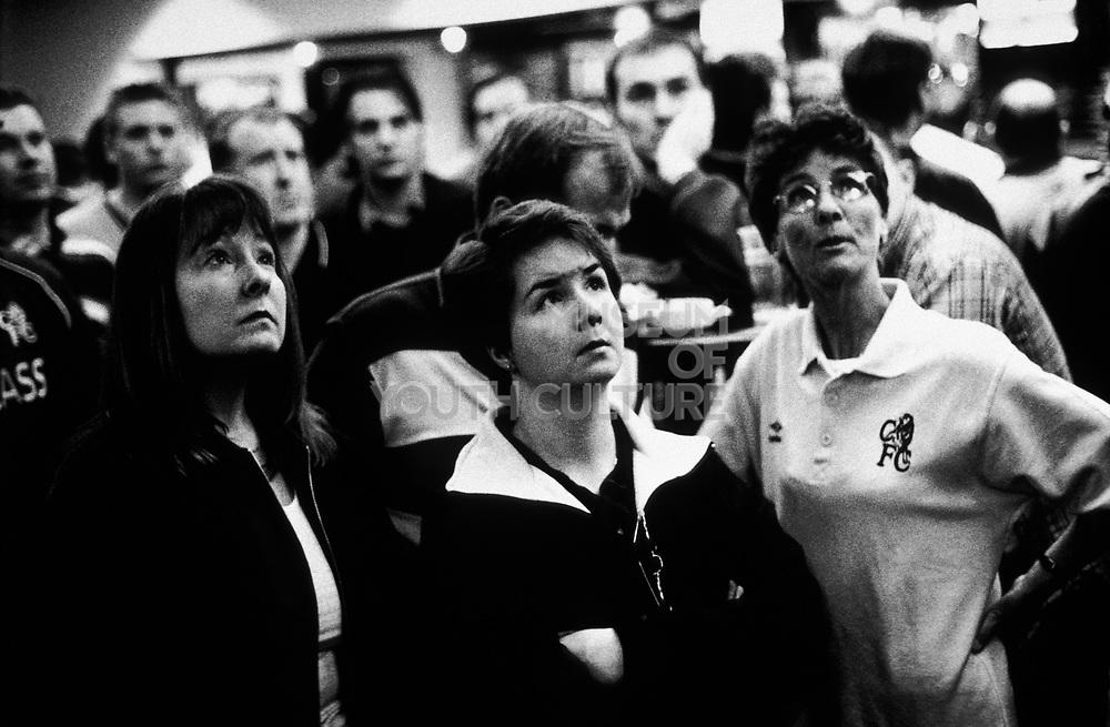 Chelsea fans In the Shed Bar, U.K, Season 1999/2000.