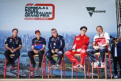 March 15, 2019 - Melbourne, Australia - Motorsports: FIA Formula One World Championship 2019, Grand Prix of Australia, ..Christian Horner (GBR, Aston Martin Red Bull Racing), Franz Tost (AUT, Red Bull Toro Rosso Honda), Otmar Szafnauer (ROU, Racing Point F1 Team), Mattia Binotto (ITA, Scuderia Ferrari Mission Winnow), Frederic Vasseur (FRA, Alfa Romeo Racing) (Credit Image: © Hoch Zwei via ZUMA Wire)