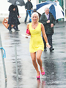 31/07/2013 Alva O' Shaughnessy from Knocknacarra ignored the forecast and came to the Galway Races despite the Torrential rain.   Picture:Andrew Downes