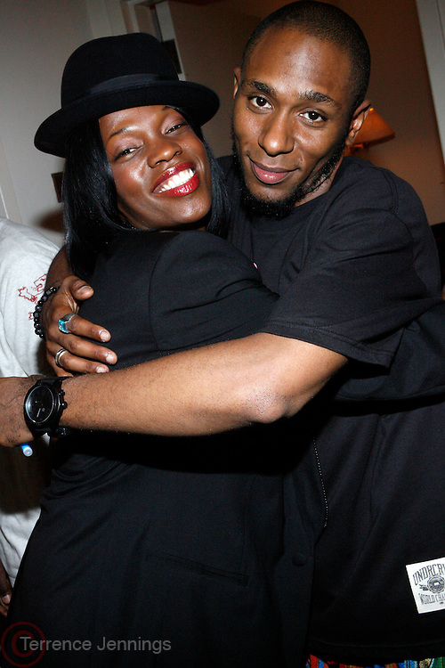 Renee Neuville and Mos Def at Mos Def Presents: Amino Alkaline - The Watermelon Syndicate with special guest Gil Scott Heron, Produced by Jill Newman Productions held at The JVC JAZZ FESTIVAL/CARNEGIE HALL on JUNE 28. . A consummate emcee, vocalist, musician and actor, it was no surprise when Mos Def premiered the Mos Def Big Band in January 2007, drawing from original compositions plus material by Miles Davis, Beyoncé, James Brown and Gil-Scott Heron. Always willing to bend genres to create his own sound, Mos lithely dances among hip hop, jazz and soul while fronting his orchestra of savvy musicians. His face is as familiar as his sound; his acting credits include Be Kind Rewind, 16 Blocks, Something the Lord Made, Lackawanna Blues and Top Dog/Underdog.  America started hearing Gil Scott-Heron?s messages in 1970, but we heard him loudly and clearly when he declared ?The Revolution Will Not Be Televised? in 1974. A no-nonsense performer and lyricist, he wasn?t called a rapper then, but that?s what he was. Today, his younger counterparts and fans call him the king of spoken word.