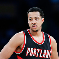 26 March 2016: Portland Trail Blazers guard CJ McCollum (3) is seen during the Portland Trail Blazers 97-81 victory over the Los Angeles Lakers, at the Staples Center, Los Angeles, California, USA.