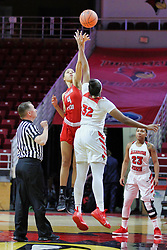 NORMAL, IL - December 04: Royce Blevins, Arielle Gonzalez-Varner, Simone Goods and Viria Livingston during a college women's basketball game between the ISU Redbirds  and the Austin Peay Governors on December 04 2018 at Redbird Arena in Normal, IL. (Photo by Alan Look)