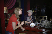 Laura Higginson and Nesta Jones, Book launch for Julian Clary's ' Murder Most Fab ',Simon Drake's House of Magic 9 Chapter Road, Kennington SE17. 14 August 2007.  -DO NOT ARCHIVE-© Copyright Photograph by Dafydd Jones. 248 Clapham Rd. London SW9 0PZ. Tel 0207 820 0771. www.dafjones.com.