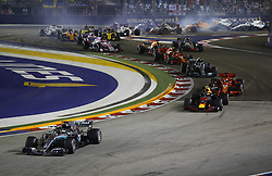 September 16, 2018 - Singapore, Singapore - Motorsports: FIA Formula One World Championship 2018, Grand Prix of Singapore, .#44 Lewis Hamilton (GBR, Mercedes AMG Petronas Motorsport), #33 Max Verstappen (NLD, Aston Martin Red Bull Racing), #5 Sebastian Vettel (GER, Scuderia Ferrari), #77 Valtteri Bottas (FIN, Mercedes AMG Petronas Motorsport) (Credit Image: © Hoch Zwei via ZUMA Wire)