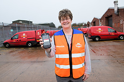 Pictured is assistant delivery office manager Carol Henley.<br /> <br /> <br /> Colleagues at the Royal Mail's Dinnington Mail Processing Unit (Dinnington Delivery Office) are setting a national standard when it come to doorstep scanning.  The team have topped 95% on compliance for parcels and large letters.<br /> <br /> Picture: Chris Vaughan Photography<br /> Date: February 2018