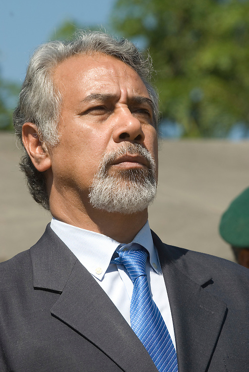 The East Timorese Army put on a parade put on for outgoing President Xanana Gusmao.