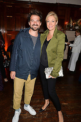 Spanish artist-designer JAIME HAYON and NADJA SWAROVSKI at a party to celebrate opening of Galerie Kreo in London held at Il Bottaccio, Grosvenor Place, London on 17th September 2014.