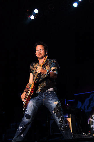 Gary Allan and Kevin Fowler concert at Concrete Street Amphitheater in Corpus Christi, Texas.