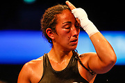 Undercard action  from Chantelle Cameron vs Natalia Aguirre at the Josh Taylor vs Viktor Postol WBC Super Lightweight Final World Title Eliminator at SSE Hydro, Glasgow, Scotland on 23 June 2018. Picture by Colin Poultney.