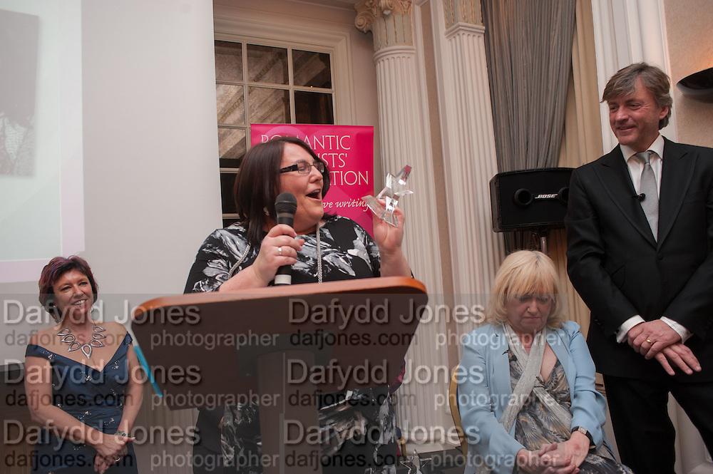 VICTORIA LAMB; JUDY FINNIGAN; RICHARD MADELEY, Romantic Novelists Association The RoNas Awards - RICHARD MADELEY & JUDY FINNIGAN - ballroom of the RAF Club, 128 Piccadilly, London. 26 February 2013