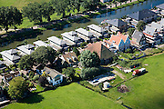 Nederland, Noord-Holland, Edam, 14-07-2008; Urban Villa's, herenhuizen in neostijl, naast Boerderij en (opgeknapte) landarbeidershuisjes aan het Oorgat; newly build mansions and (former) farm house and cottages from former farm laborer side by side, impoverishment of the lanscape, loss of original identity<br /> luchtfoto (toeslag), aerial photo (additional fee required)<br /> foto/photo Siebe Swart