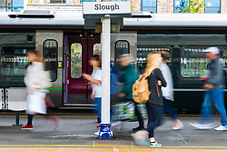 Slough station file images. Slough, Berkshire, July 30 2019.