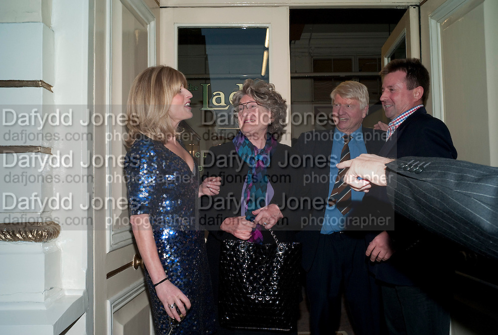 RACHEL JOHNSON; STANLEY JOHNSON; JULIA BUDWORTH; BEN BUDWORTH; Rachel's Johnson's 'A Diary of the Lady'book launch at The Lady's offices. Covent Garden. London. 30 September 2010. -DO NOT ARCHIVE-© Copyright Photograph by Dafydd Jones. 248 Clapham Rd. London SW9 0PZ. Tel 0207 820 0771. www.dafjones.com.