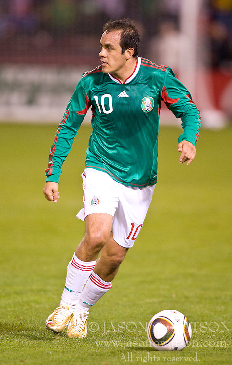 February 24, 2010; San Francisco, CA, USA;  Mexico forward Cuauhtemoc Blanco (10) during the first half against Bolivia at Candlestick Park. Mexico defeated Bolivia 5-0.