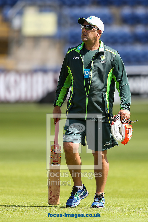 Australia manager Darren Lehmann during the Australia Cricket Practice before the first Test Match of the Investec Ashes Series at Sophia Gardens, Cardiff<br /> Picture by Andy Kearns/Focus Images Ltd 0781 864 4264<br /> 07/07/2015