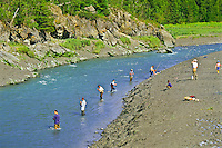 Fishing in Bird Creek along the Seward HWY south of Anchorage, Alaska.